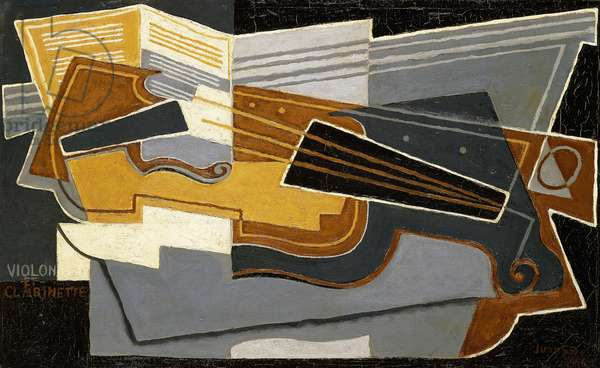 Violin and Clarinet, 1921 (oil on canvas)