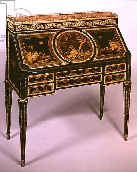 Slope-fronted secretaire, by M.Carlin, late 18th century
