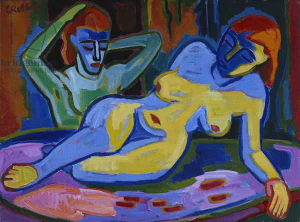 Two Papers, 1953 (oil on canvas)