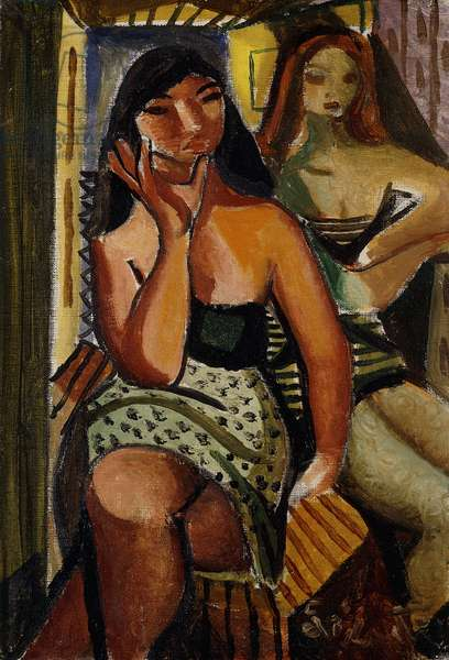 Two Women; Duas Mulheres,  (oil on canvas)