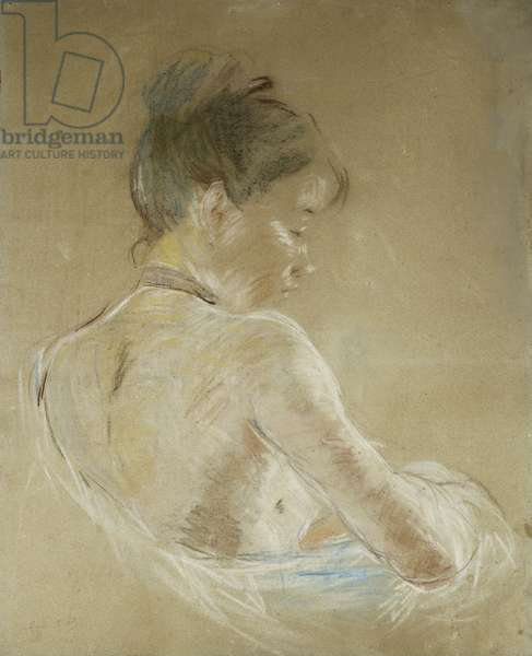 Young Girl With Naked Shoulders; Jeune Fille Aux Epaules Nues, 1885 (pastel on paper)