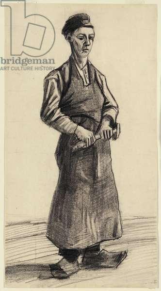 The Blacksmith's Boy, 1882 (black chalk & pencil on paper)