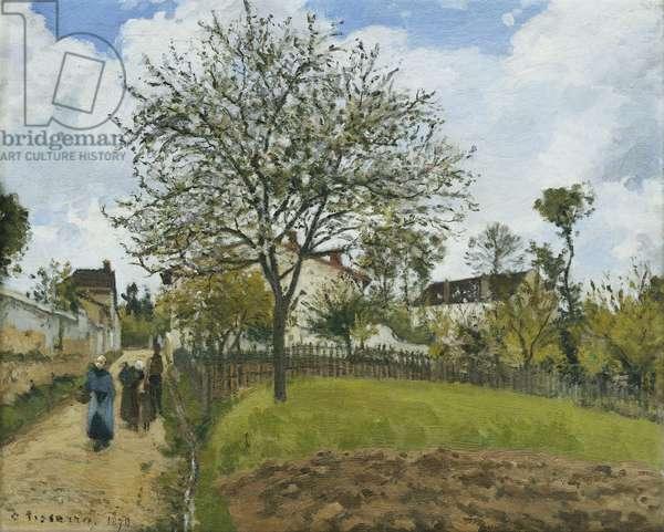 Landscape in Louveciennes; Paysage a Louveciennes, 1870 (oil on canvas)