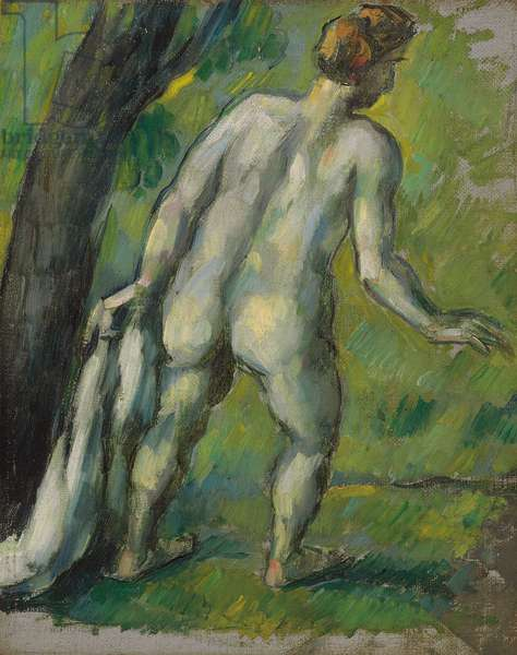 Bather, View from the Back; Baigneur, vu de dos, 1877-1878 (oil on canvas)