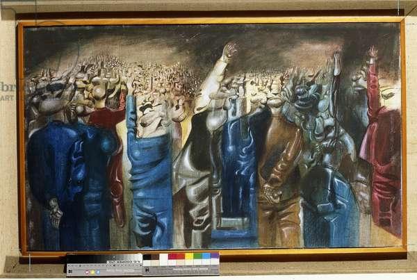 Surrealist Composition, (oil on canvas)