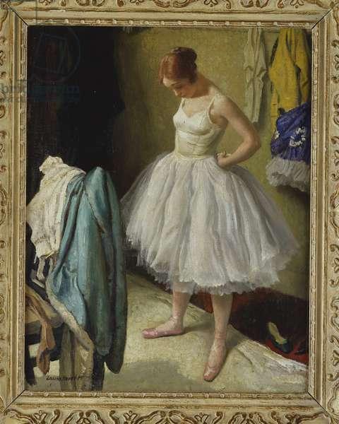 A Ballet Dancer (oil on canvas)