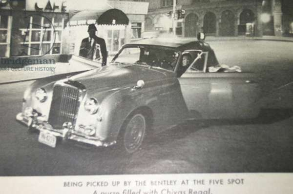 'Being picked up by the Bentley at the Five Spot' (litho)