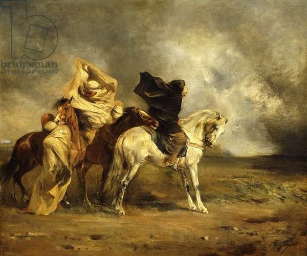 The Simoom; Le Simoom,  (oil on canvas)