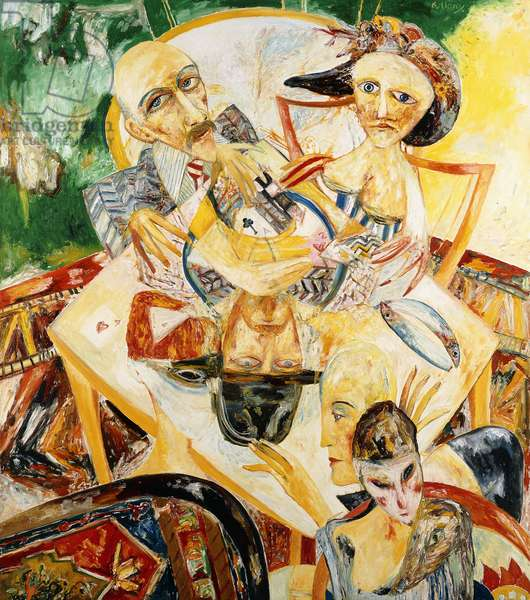 Feast of Fate, 1990 (Oil on canvas)