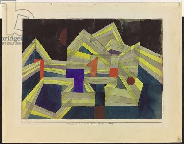 Architectur, Transparent-Structural, 1921 (gouache, w/c & pencil on paper)