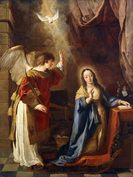 The Annunciation,  (oil on canvas)