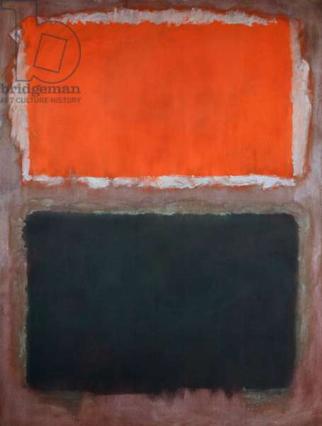 Black and Dark Red on Red, 1958 (oil on canvas)