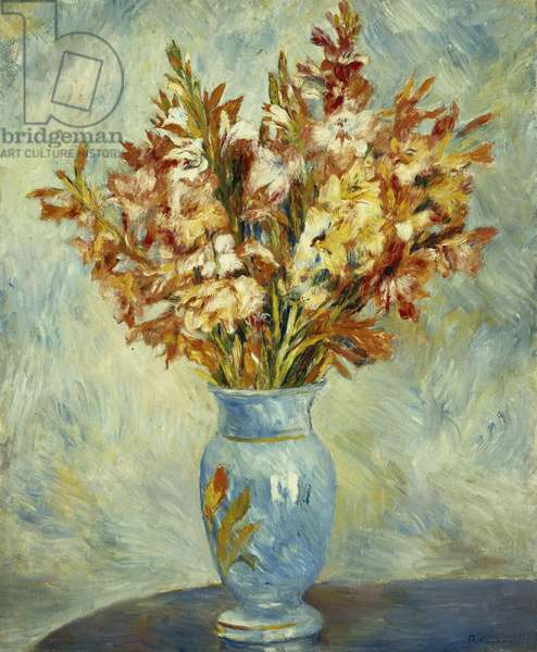 Gladioli in Blue Vase; Glaieuls au Vase Bleu, 1884 (oil on canvas)