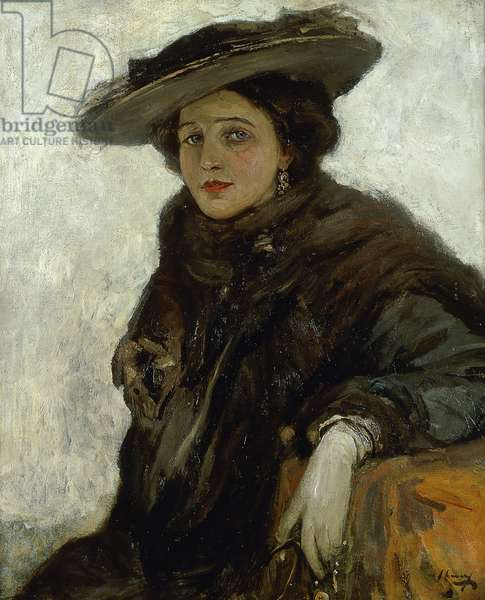 The Spanish Hat or Mrs. Gerard Chowne, (oil on canvas)