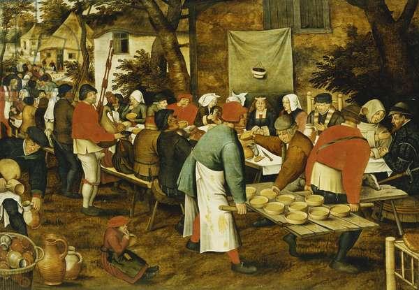 A Peasant Wedding Feast, 1630 (oil on panel)