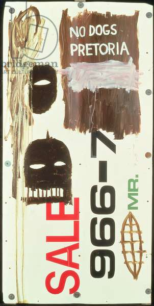 South African Nazism, 1985 (oil on aluminium)