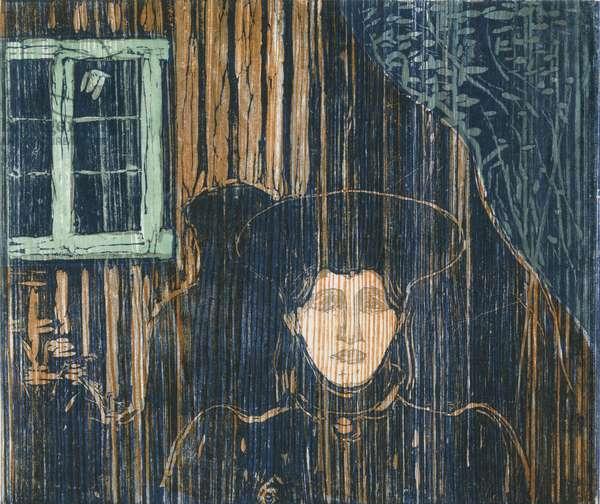 Moonlight; Mondschein, 1896 (woodcut)