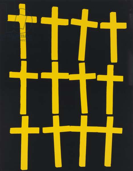 Crosses, 1981-82 (synthetic polymer and silkscreen inks on canvas)