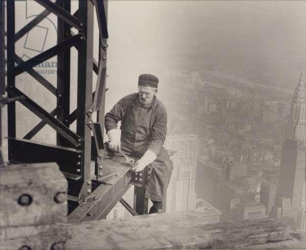 Empire State Building under construction, 1930 (gelatin silver print)