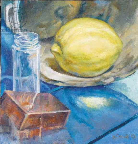 Still life with lemon, 1983 (oil on canvas)