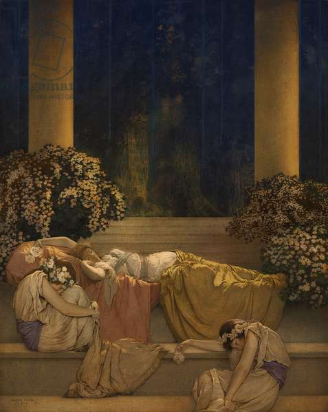 Sleeping Beauty in the Wood, 1912 (oil on canvas laid down on panel)
