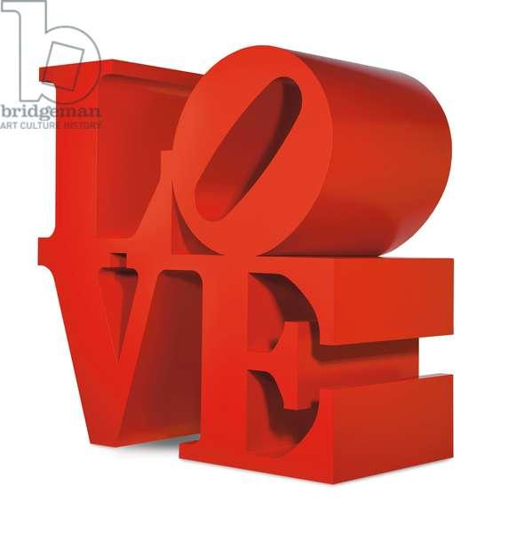 Red Love, 1966; 2000 (painted aluminium)