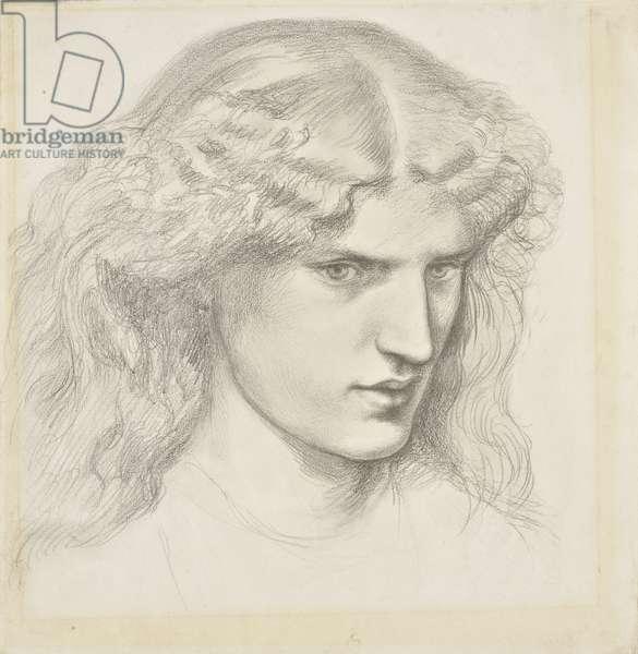Portrait of Annie Miller, 1860s (pencil on paper)