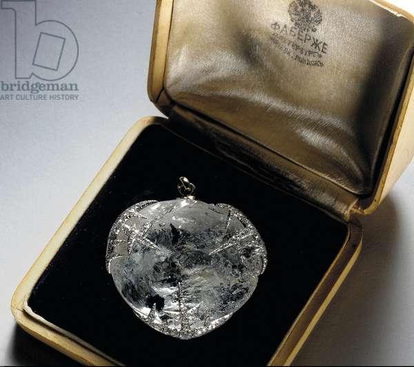 'Ice' pendant, 1913 (platinum, rock crystal & diamonds)
