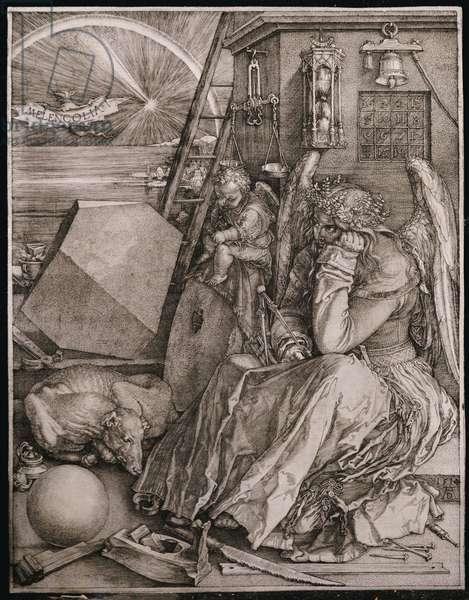 Melancholia, 1513 (engraving)
