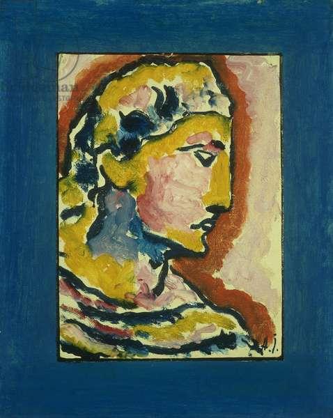 Head; Kopf, 1930 (oil on canvas laid on artist's board)
