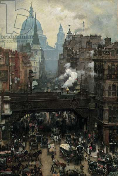 St. Paul's and Ludgate Hill, c.1887 (oil on canvas)