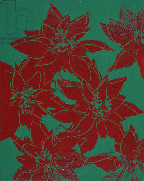 Poinsettia Flowers, 1982 (silkscreen inks and synthetic polymer on canvas)