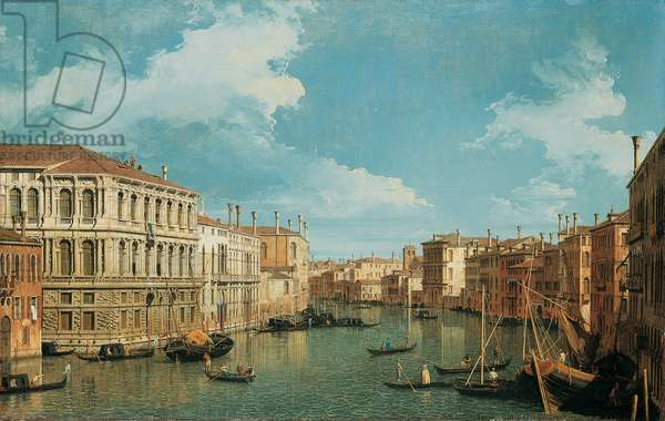 The Grand Canal, Venice, Looking North-West, with the Palazzo Pesaro, the Palazzo Foscarini and the Pinnacle of S. Stae on the Left and the Palazzo Vendramin-Calergi and S. Marcuola on the Right (oil on canvas)