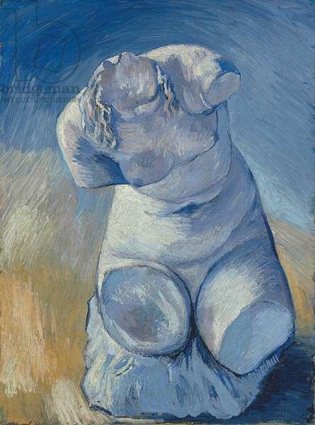 Plaster Statuette: Female Torso, Front View; Statuette de platre: Torse de femme, vue de face , 1887 (oil on canvas)