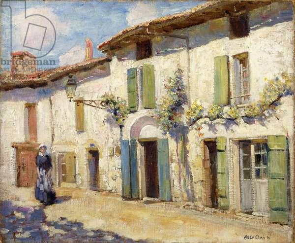 Facade, Laroche Foucault, France, 1914 (oil on canvas)