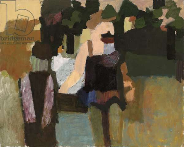In the Luxembourg Gardens, 1957 (oil on canvas)