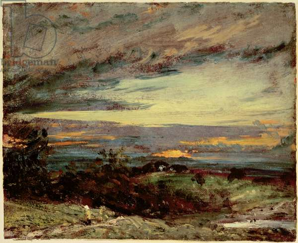Sunset study of Hampstead, looking towards Harrow