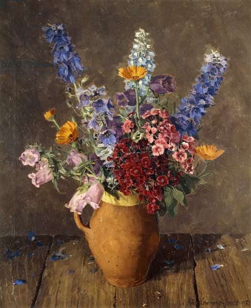Terracotta Jug with Wild Flowers, 1951 (oil on canvas)