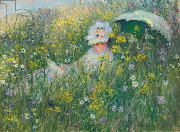 In the Meadow; Dans la prairie, 1876 (oil on canvas)