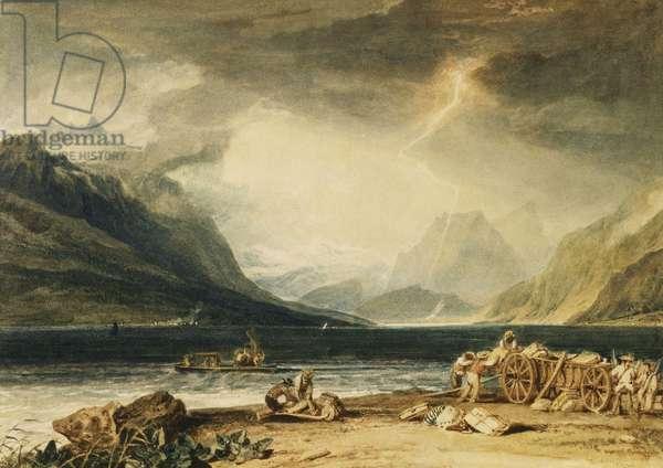 The Lake of Thun, Switzerland, c.1802-10 (watercolour)