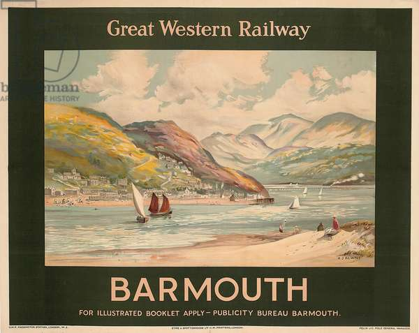 'Barmouth', poster advertising the Great Western Railway (colour litho)