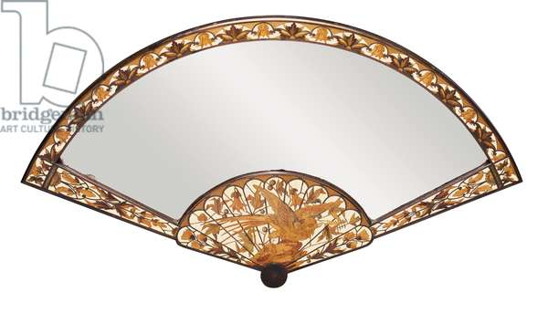 Table mirror, Maison Giroux, c.1880 (bronze, ivory & stained fruitwood) (see 478206 for detail)