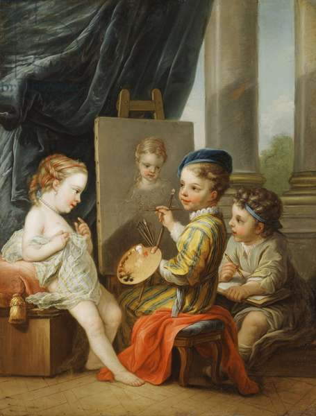 The Four Arts - Painting,  (oil on canvas)