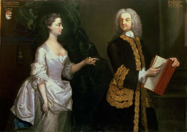 Portrait of Sir John Perceval, 1st Earl of Egmont (1683-1748) and His Wife Catherine (oil on canvas)