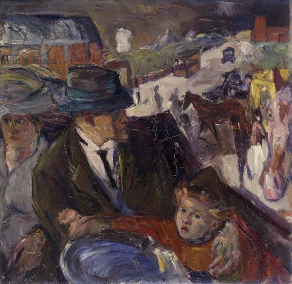 In the Car; Im Auto, 1914 (oil on canvas)