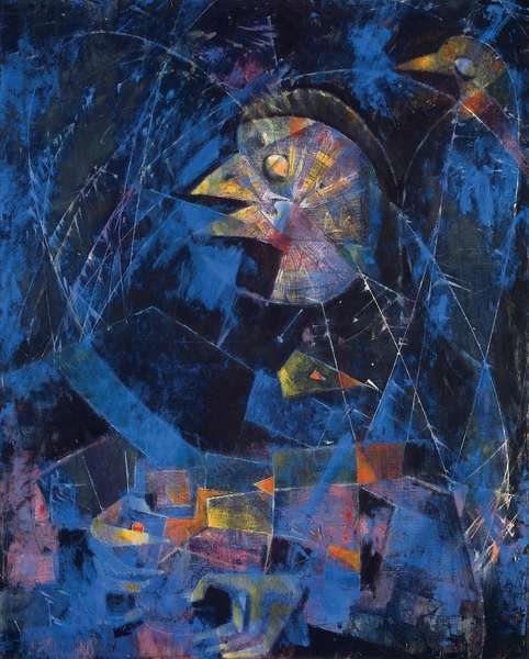 The Jeweler of the Sky; Le bijoutier du ciel, 1954 (oil on canvas)