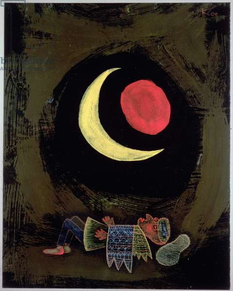 Strong Dream, 1929 (no 333) (w/c & gouache on primed paper on cardboard)