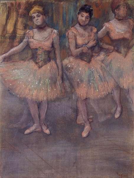 Three Dancers before Practice, c.1880 (pastel on paper)