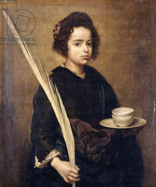 Saint Rufina,  (oil on canvas)