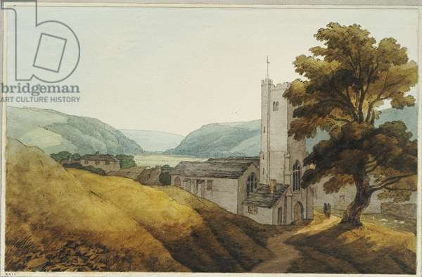 From the Churchyard at Dulverton, Somerset, 1800 (pen, ink & w/c on paper)
